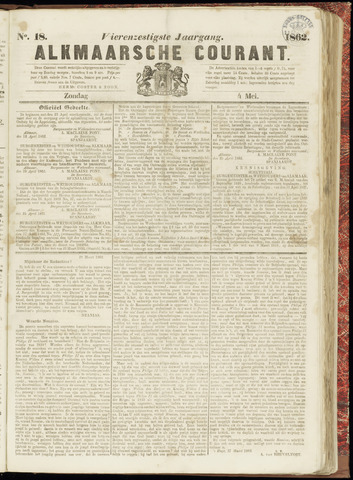 Alkmaarsche Courant 1862-05-04
