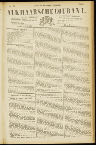 Alkmaarsche Courant 1885-07-29