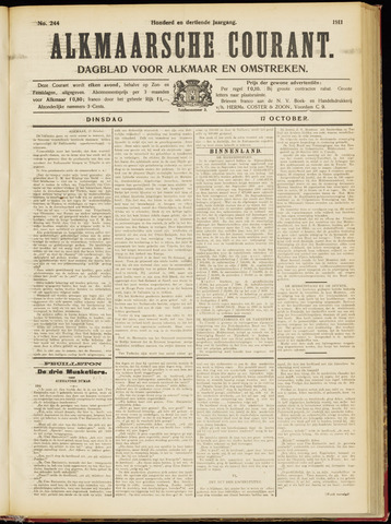 Alkmaarsche Courant 1911-10-17