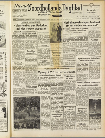 Nieuw Noordhollandsch Dagblad : voor Alkmaar en omgeving 1952-04-24
