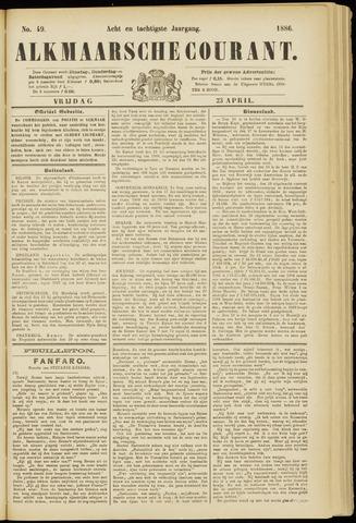 Alkmaarsche Courant 1886-04-23