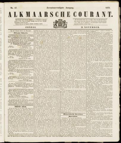 Alkmaarsche Courant 1875-11-21