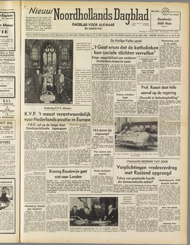 Nieuw Noordhollandsch Dagblad : voor Alkmaar en omgeving 1952-02-11