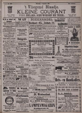 Vliegend blaadje : nieuws- en advertentiebode voor Den Helder 1897-12-01