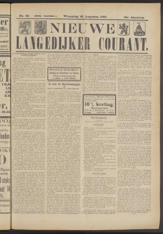 Nieuwe Langedijker Courant 1920-08-25