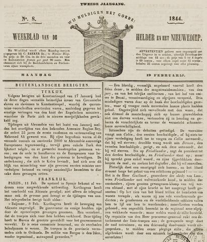 Weekblad van Den Helder en het Nieuwediep 1844-02-19