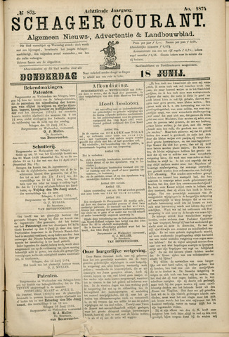 Schager Courant 1874-06-18