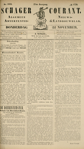 Schager Courant 1883-11-22