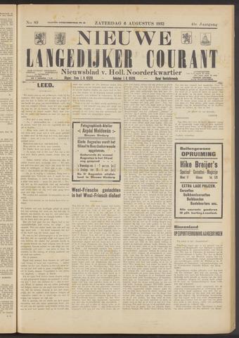 Nieuwe Langedijker Courant 1932-08-06