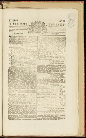 Alkmaarsche Courant 1846-04-27