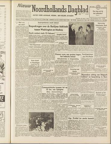 Nieuw Noordhollandsch Dagblad : voor Alkmaar en omgeving 1949-04-26