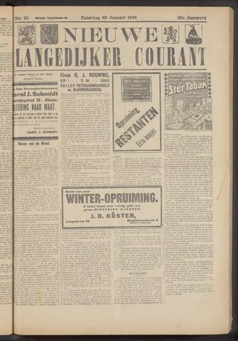 Nieuwe Langedijker Courant 1926-01-23