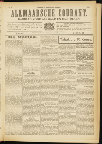 Alkmaarsche Courant 1917-01-05