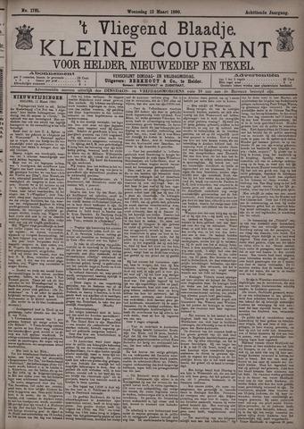 Vliegend blaadje : nieuws- en advertentiebode voor Den Helder 1890-03-12