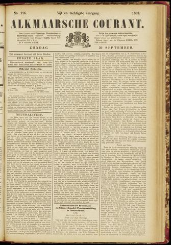 Alkmaarsche Courant 1883-09-30