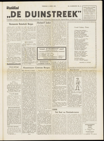 De Duinstreek 1955-04-08