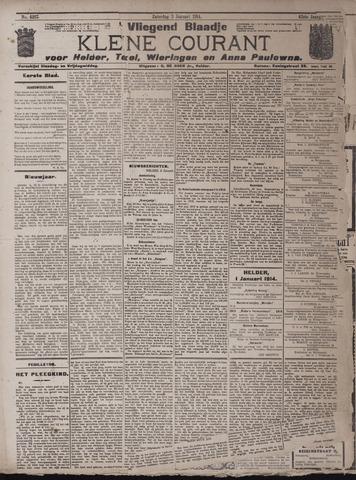 Vliegend blaadje : nieuws- en advertentiebode voor Den Helder 1914-01-03