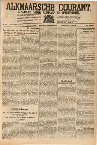 Alkmaarsche Courant 1934-10-04