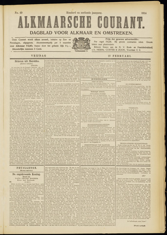 Alkmaarsche Courant 1914-02-27