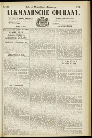 Alkmaarsche Courant 1891-09-20