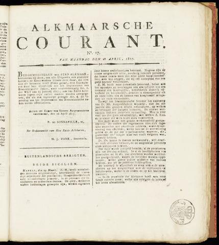 Alkmaarsche Courant 1817-04-28
