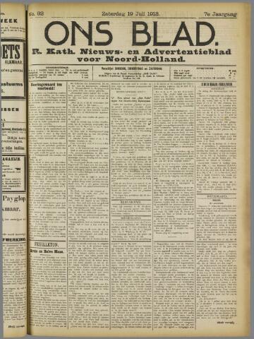 Ons Blad : katholiek nieuwsblad voor N-H 1913-07-19
