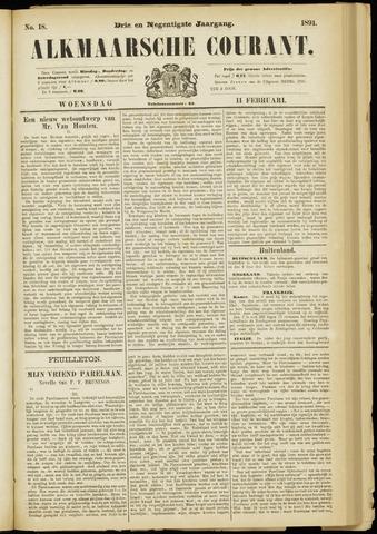 Alkmaarsche Courant 1891-02-11