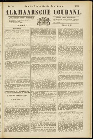 Alkmaarsche Courant 1889-03-01