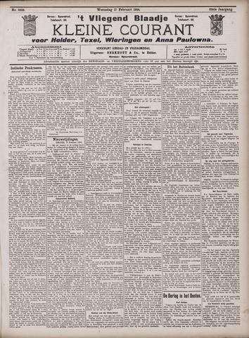 Vliegend blaadje : nieuws- en advertentiebode voor Den Helder 1904-02-17