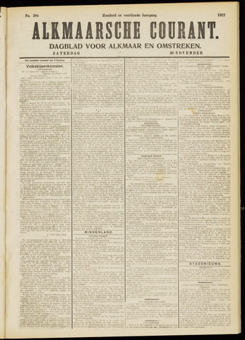 Alkmaarsche Courant 1912-11-30