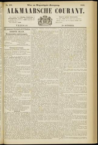 Alkmaarsche Courant 1892-10-28