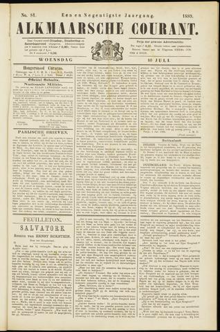 Alkmaarsche Courant 1889-07-10