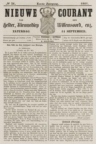 Nieuwe Courant van Den Helder 1861-09-14