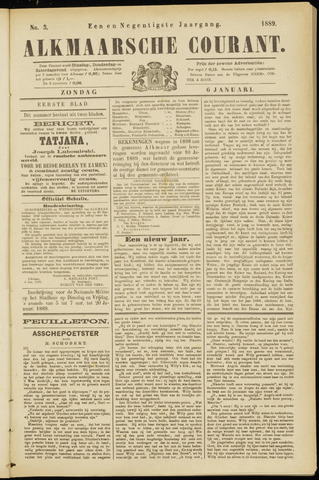 Alkmaarsche Courant 1889-01-06