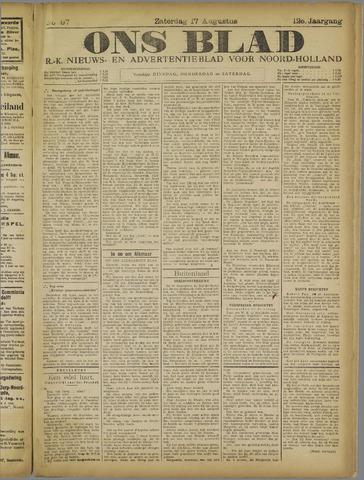 Ons Blad : katholiek nieuwsblad voor N-H 1918-08-17