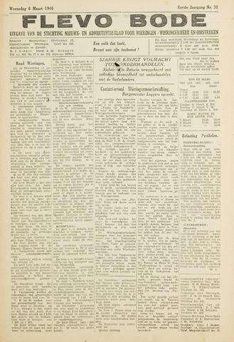 Flevo-bode: nieuwsblad voor Wieringen-Wieringermeer 1946-03-06
