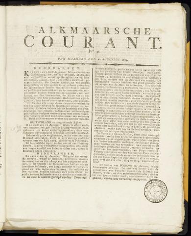 Alkmaarsche Courant 1814-08-22