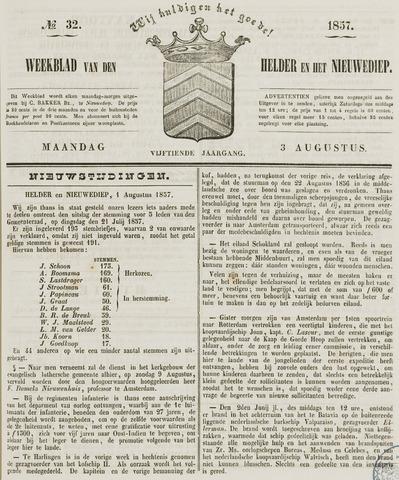 Weekblad van Den Helder en het Nieuwediep 1857-08-03