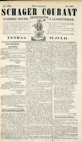 Schager Courant 1881-07-24