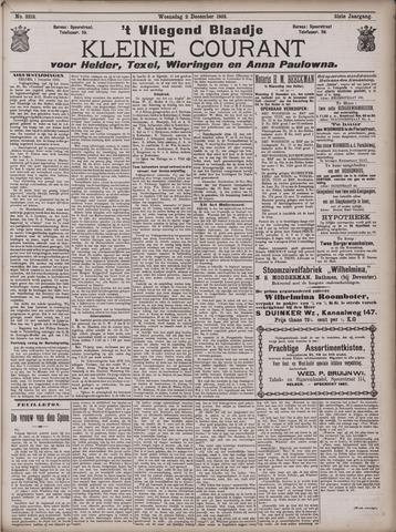 Vliegend blaadje : nieuws- en advertentiebode voor Den Helder 1903-12-02
