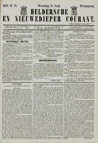 Heldersche en Nieuwedieper Courant 1870-06-15