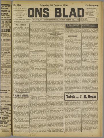 Ons Blad : katholiek nieuwsblad voor N-H 1916-10-28