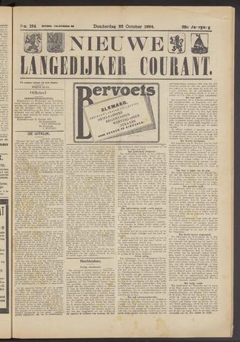 Nieuwe Langedijker Courant 1924-10-23