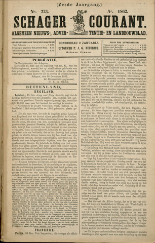 Schager Courant 1862