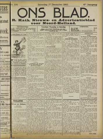 Ons Blad : katholiek nieuwsblad voor N-H 1910-12-17