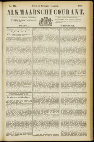 Alkmaarsche Courant 1885-09-20