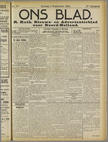 Ons Blad : katholiek nieuwsblad voor N-H 1910-09-03