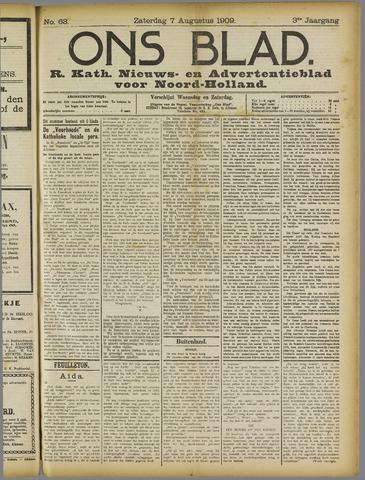 Ons Blad : katholiek nieuwsblad voor N-H 1909-08-07