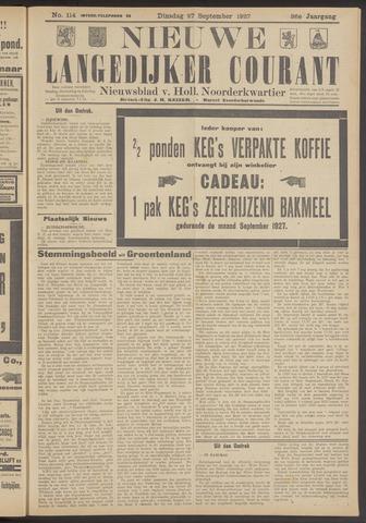 Nieuwe Langedijker Courant 1927-09-27