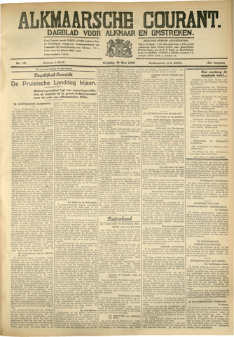 Alkmaarsche Courant 1933-05-19